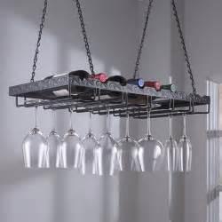 metal hanging wine glass rack vino grotto
