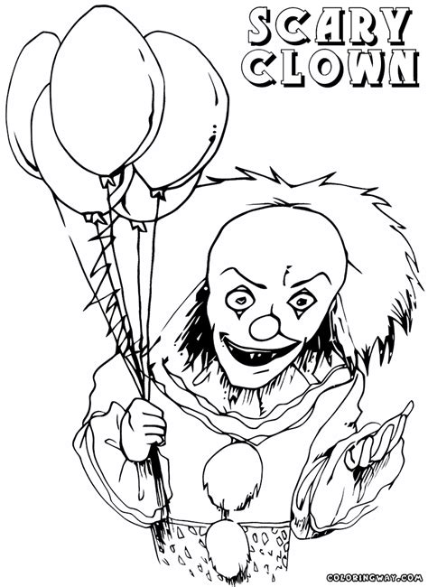 scary coloring pages scary joker pages coloring pages