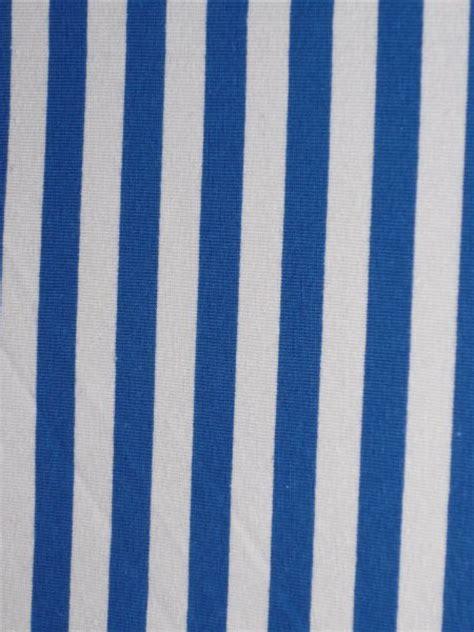 Stripe Spandek royal blue white horizontal stripe cotton lycra jersey 4 way stretch fabric