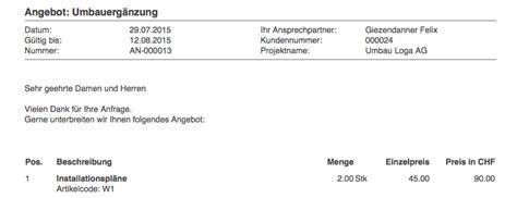 Rechnung Schweiz Angaben Wie Erstelle Ich Ein Korrektes Angebot Bexio