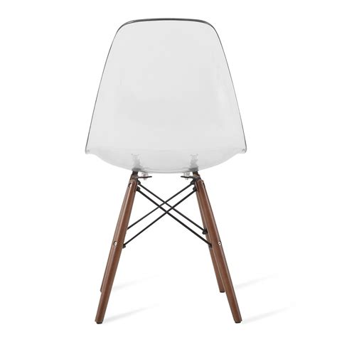 clear plastic eames chair eames style dsw clear acrylic plastic dining shell chair