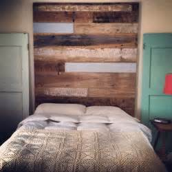 reclaimed wood headboard by revival supply co