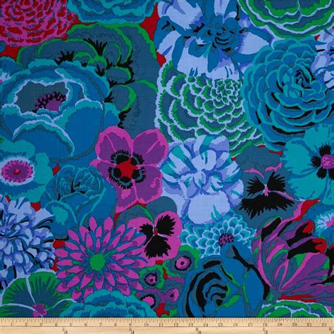 Kaffe Fassett Home Decor Fabric by Kaffe Fassett Bekah Cobalt Discount Designer Fabric