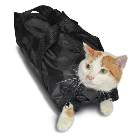 anself polyester cat grooming bag restraint bag for cut