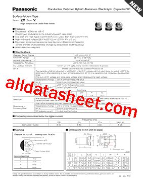 zc transistor datasheet eehzc1v151p datasheet pdf panasonic semiconductor