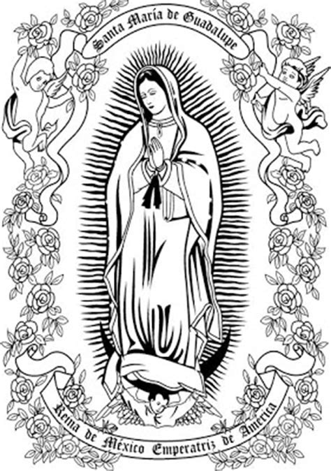 Imagenes Virgen De Guadalupe Para Colorear Our Of Guadalupe Coloring Page