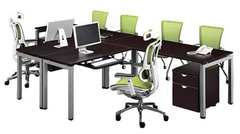 144 quot 2 person l shaped table desk espresso by office