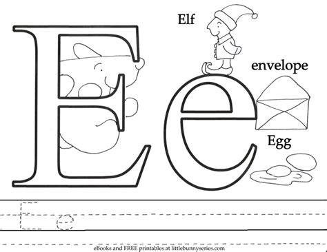 E Coloring Page Printable by Letter E Colouring Sheets 41 Best Coloring Images On
