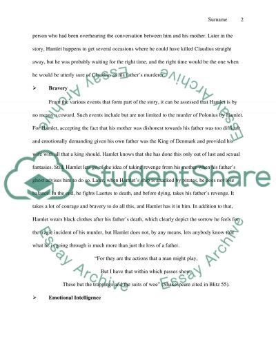 Hamlet Character Analysis Essay by Hamlet S Character Strengths And Weaknesses Essay