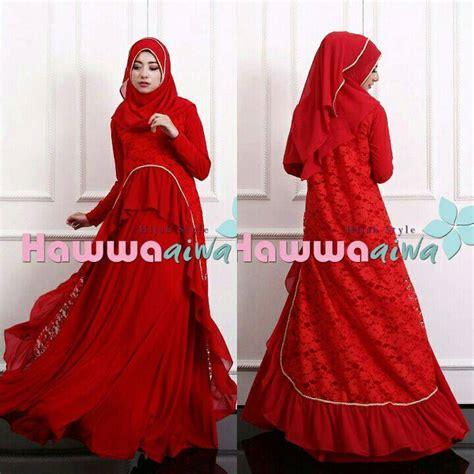 Baju Gamis Atas Brokat 60 contoh baju gamis muslim brokat trend terbaru limited edition contoh baju muslimah terbaru