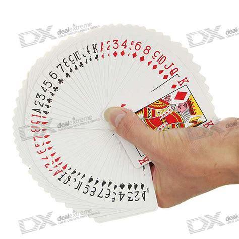 magic tricks training set ultra thin playing card white 52 pack free shipping dealextreme