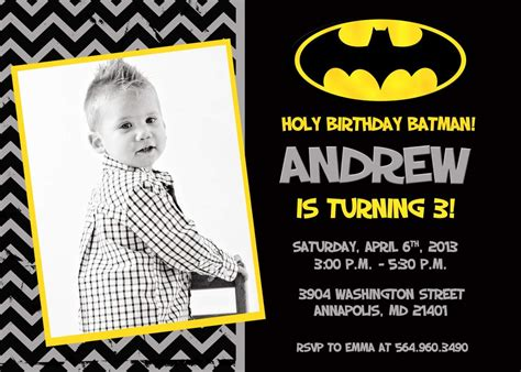 batman invitation card template create batman birthday invitations free templates