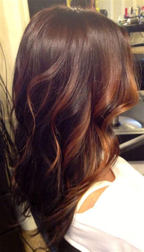 brunette hair color with highlights pinterest brunette and caramel face framing balayage highlights over