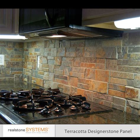 stone veneer kitchen backsplash pinterest