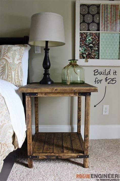diy bed table 25 diy side table ideas with lots of tutorials 2017