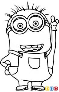 minion drawings how to draw dave minion despicable me how to draw