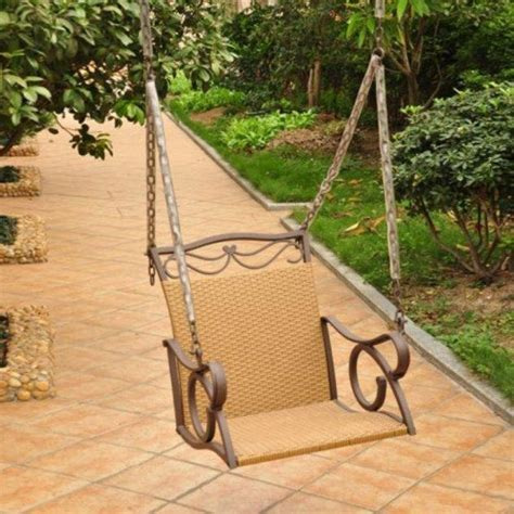 single porch swing chair international caravan resin wicker valencia single porch