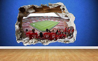 arsenal wall sticker  smashed emirates stadium bedroom