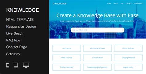 website templates for knowledge base responsive knowledge base faq html template by pressapps
