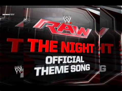wwe theme songs karaoke wwe the night raw official theme song instrumental and