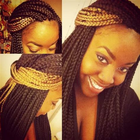 gold on top red on bottom box braids box braids inspired hairstyles