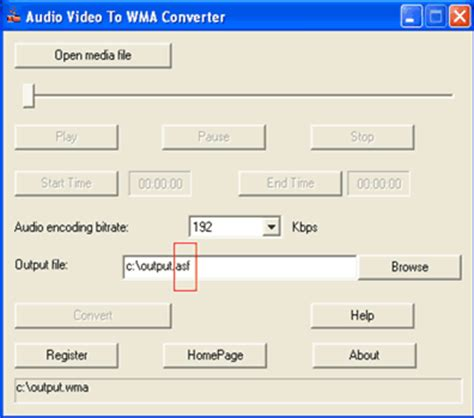 audio format bitrate convert wav to asf speex to asf