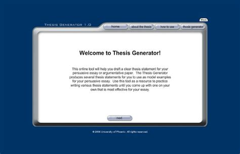 thesis generator pearltrees
