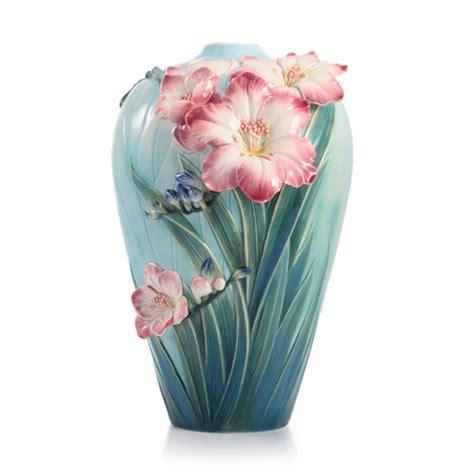 franz vase franz porcelain blossoming freesia large vase