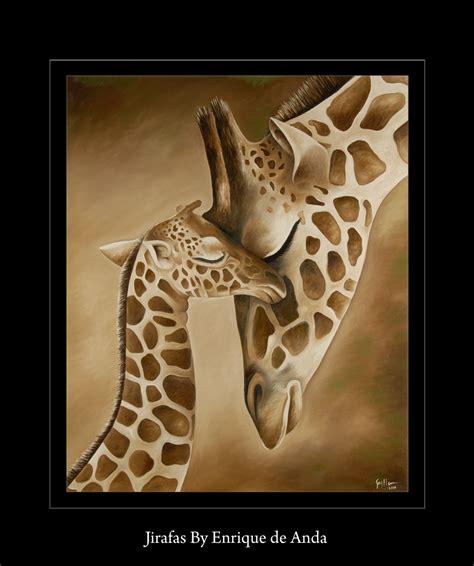 imagenes de jirafas al oleo animal paintings