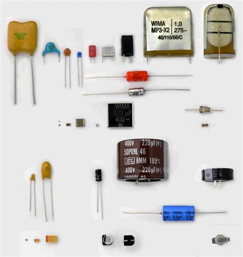 capacitor types list electronic component