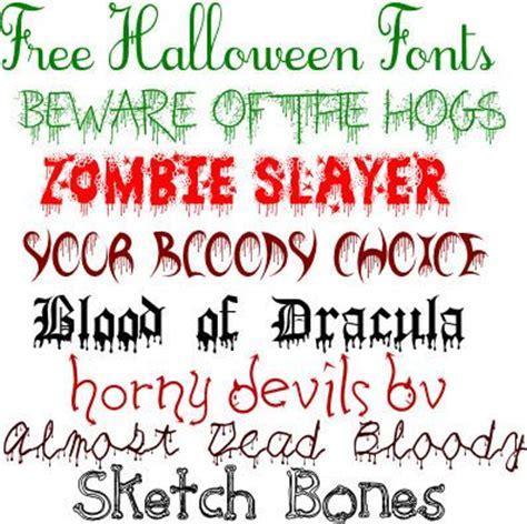 printable font catalog fonts halloween and halloween fonts on pinterest