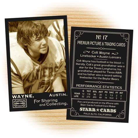 how to make your own football card make your own football card with cards