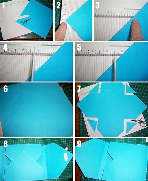 How To Make A Simple Envelope Out Of Paper - easy box envelope crafts the home channel