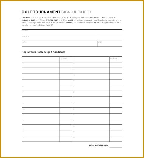 golf outing registration form template 4 golf outing registration form template fabtemplatez