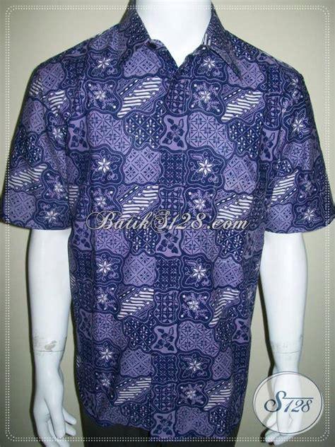 Jual Baju Pria Jual Baju Batik Pria Murah Warna Biru Motif Sekar Jagad