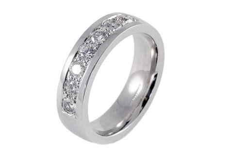 mens 18ct white gold 7 wedding ring