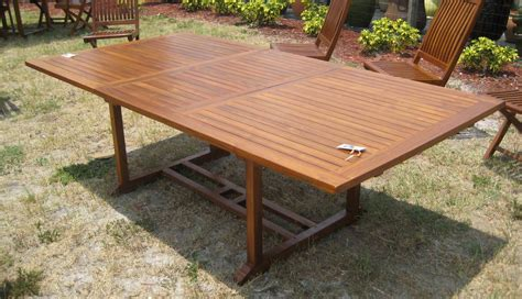teak picnic table with detached benches furniture teak patio table plans outdoor furniture wood