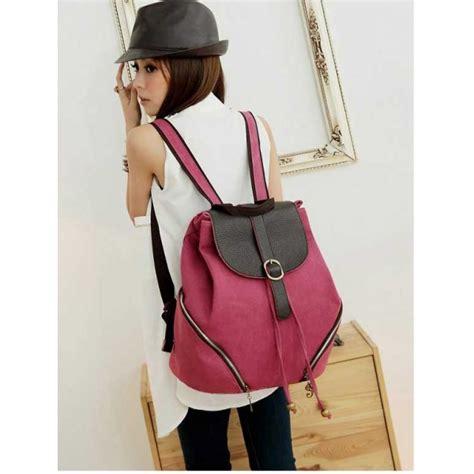 T50 Tas Import Wanita Ransel Wanita Dompet Handbag Clutch Backpack tas ransel wanita bahan kanvas bag695 moro fashion