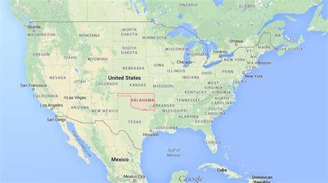 oklahoma map usa where is oklahoma on map of usa