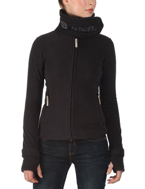 bench funnel neck jacket bench women s funnel neck long sleeve coat black blea0021