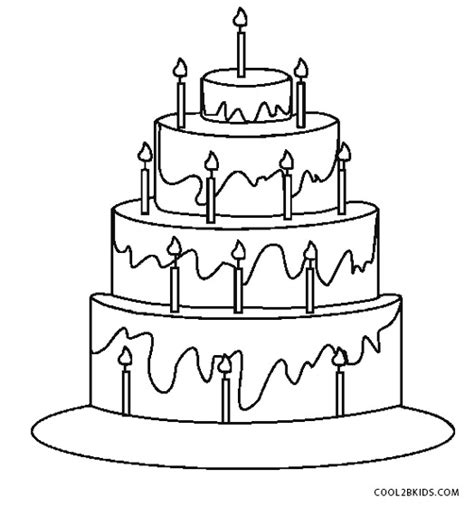 printable coloring pages birthday cake free printable birthday cake coloring pages for kids