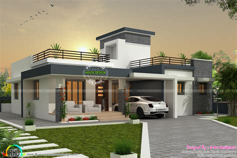 types of house designs 3 bhk contemporary box type home kerala home design and