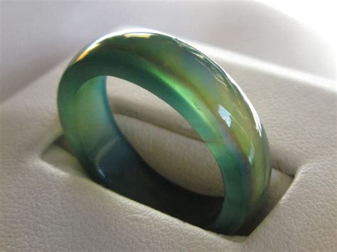 green mood mood rings 187 marble mood rings 187 genuine green agate mood