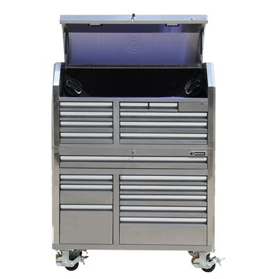 kobalt 18 drawer stainless steel tool cabinet lowe s canada