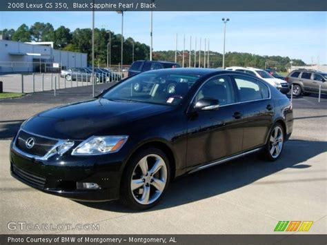 black lexus interior black sapphire pearl 2008 lexus gs 350 black interior