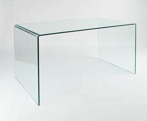 viva modern arch dining table desk bent glass curved