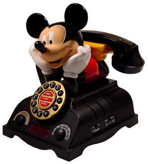 mickey mouse talking alarm clock radio telephone