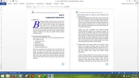 email kemenag bab ii gambaran umum laporan spip kemenag