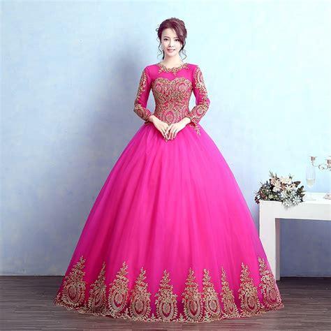 Gaun Dres Pengantin jual gaun pengantin pink baju pengantin wedding gown