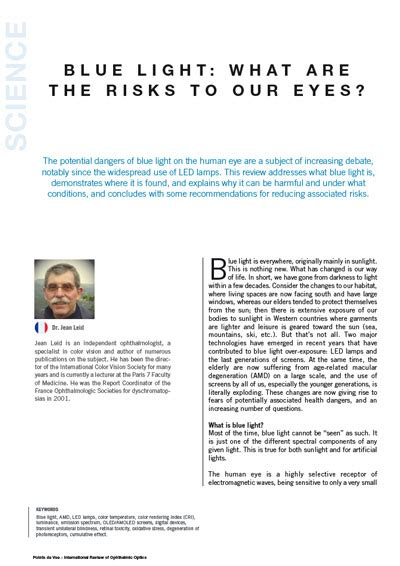 dangers of blue light optique duvillard blue light what are the risks to our